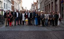 Kunstteam TIHF met Burgemeester D. Defauw - P. Annys, F. Demon, Dhr. en Mevr. Spegelaere